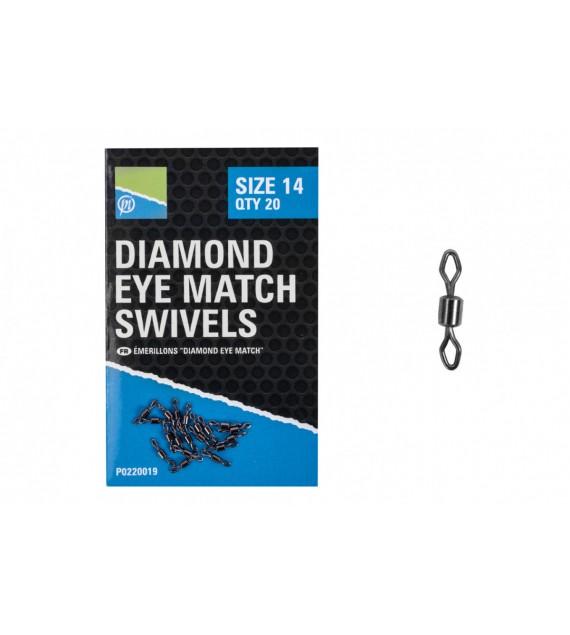 DIAMOND EYE MATCH SWIVELS - SIZE 14