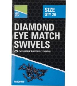 DIAMOND EYE MATCH SWIVELS - SIZE 10