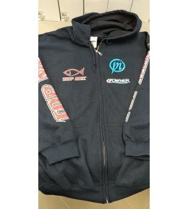 Team Top Mix cipzáros kapucnis pulóver - kék - XL