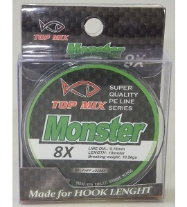 X8 Monster előke zsinór 0,16mm
