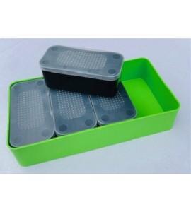 Csalisdoboz készlet (4x csalisdoboz 13x6x5cm + tároló doboz