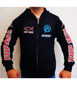 Team Top Mix cipzáros kapucnis pulóver - Kék - L