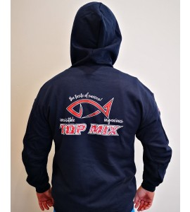 Team Top Mix cipzáros kapucnis pulóver - Kék - M